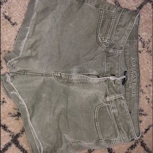 Army Green High Waist Shorts